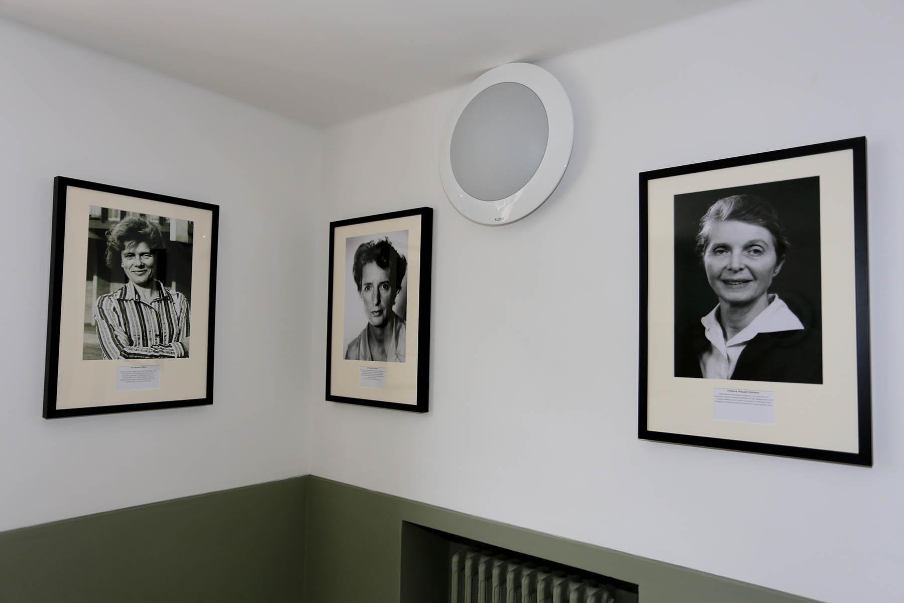 Marianne Fillenz, Pam MacKinnon and Margaret Matthews Sherrington display