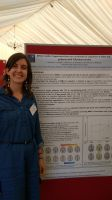 Ludovica Griffanti with her poster