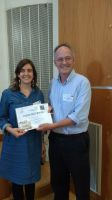 Ludovica is awarded prize by Richard Wade-Martins