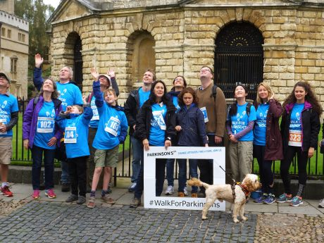 Parkinson's UK 2017 Walk group gathered in Oxford