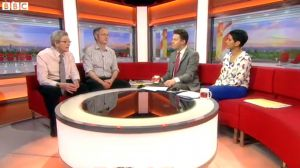 Richard Wade-Martins interviewed at the BBC news desk