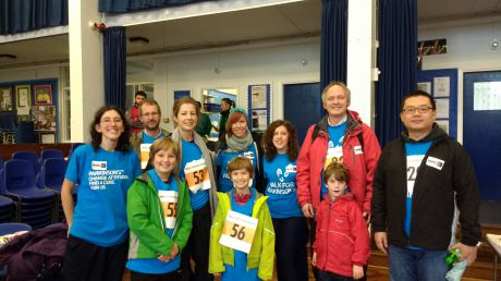 Team OPDC take to the road in the 2016 Oxford Parkinson's Walk