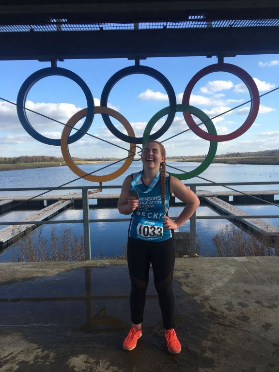 Becky Wallings Runs for Parkinson's Research